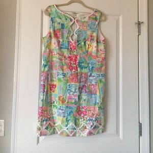 Lilly Pulitzer 50 states patchwork dress